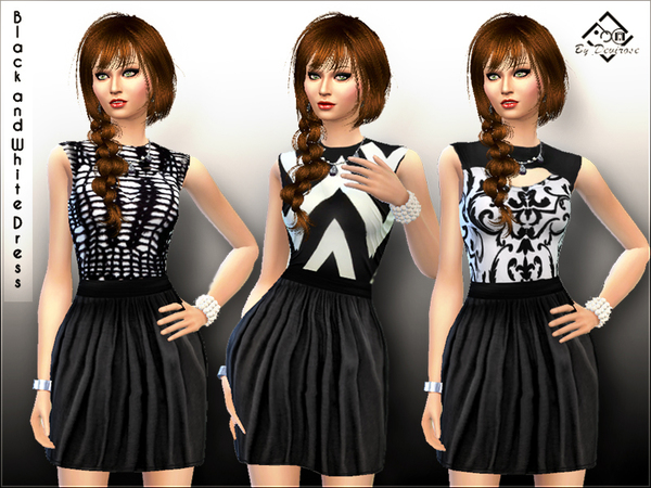 Black and White Dress by Devirose