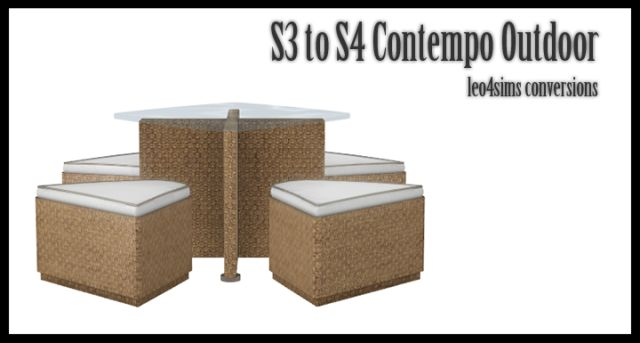 TS3 Contemp Outdoor Dining Set by Leo-Sims