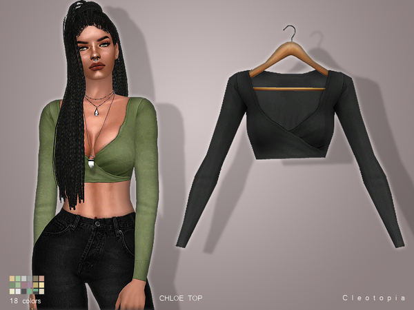Set58- CHLOE Wrap Top by Cleotopia
