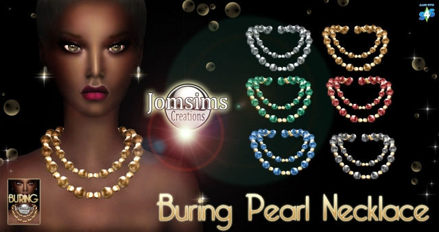Buring Pear Necklace by JomSims