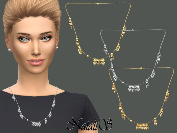 NataliS_Spike Tassel Fringe Necklace