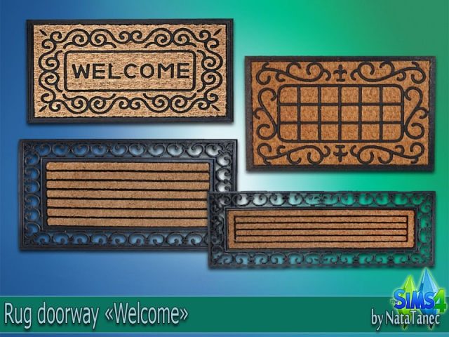 "Rug doorway ""Welcome"" by Natatanec"