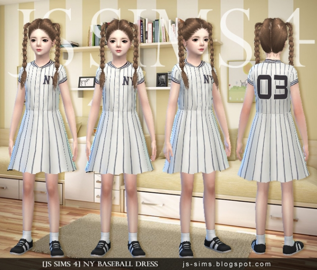 NY Baseball Dress by JS Sims 4