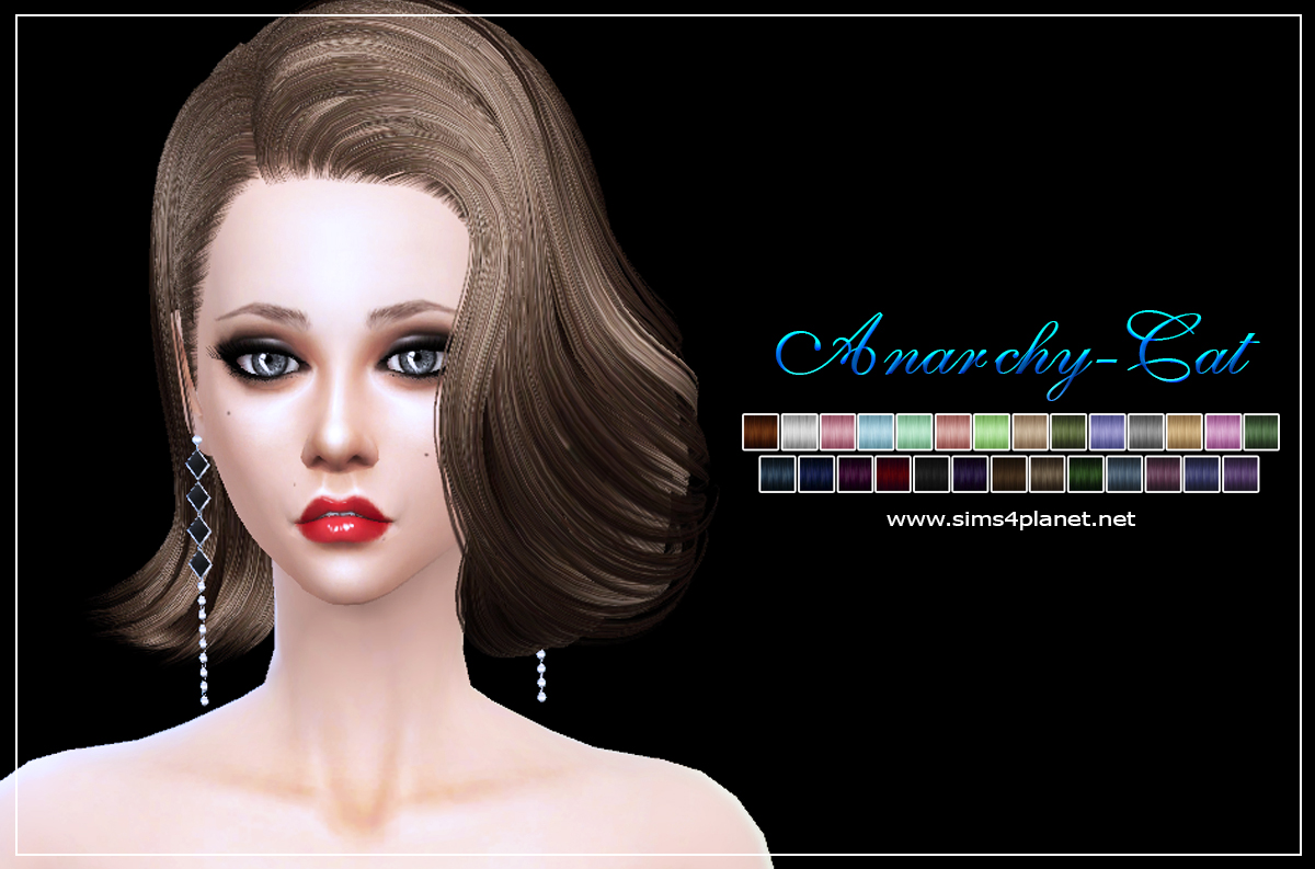 Bflysims hair086 by Anarchy-Cat