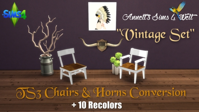 "TS3 Chairs & Horns Conversion ""Vintage Set"" by Annett85"