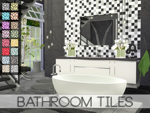 Bathroom Tiles by Pralinesims