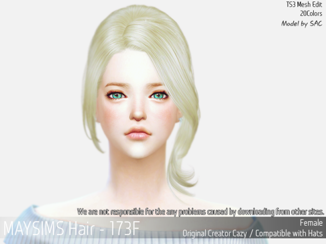 Hair173F by MaySims