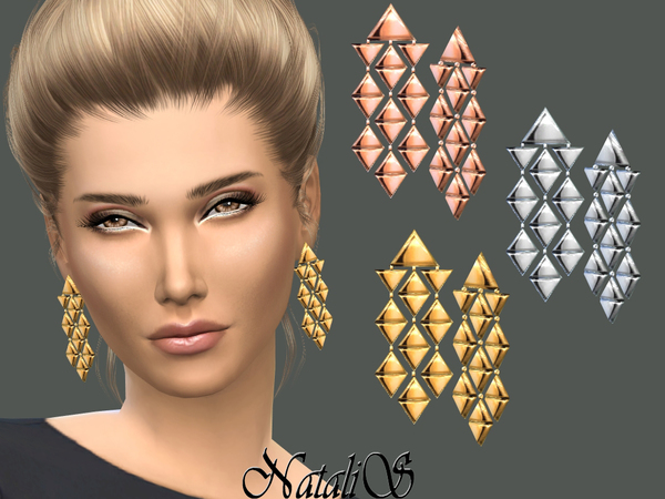 NataliS_Triangles Chandelier Earrings