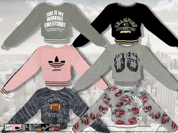 Athletic Department Sweatshirt Collection by Pinkzombiecupcakes
