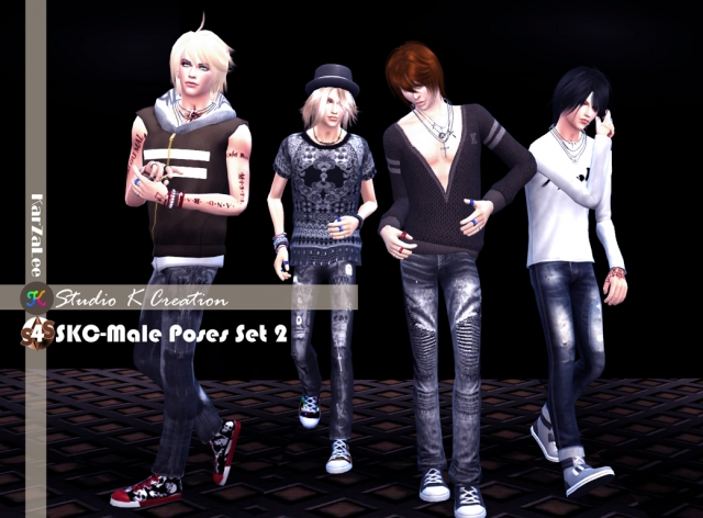 SKC-Male Poses set 2 by Karzalee