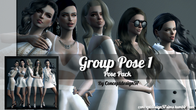 Group Pose 1 - Pose Pack version by ConceptDesign97