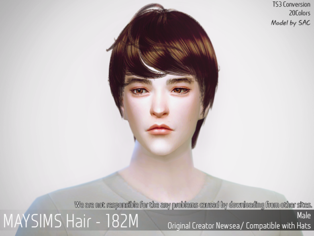 Hair182M by MaySims
