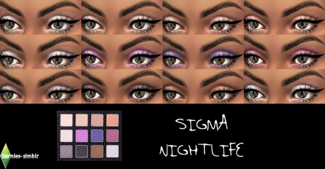 (UNISEX) Sigma Nightlife eyeshadow palette by BerniesSimblr