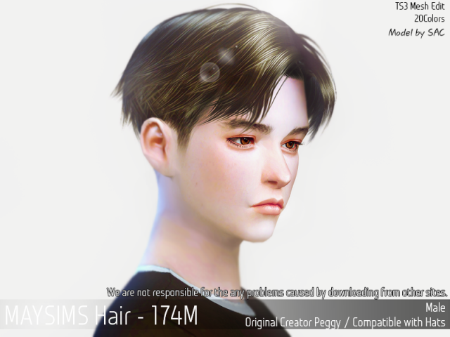 Hair174M by MaySims