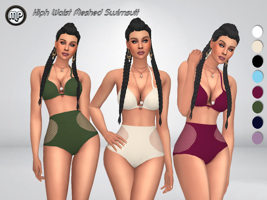 MP High Waist Meshed Swimsuit by MartyP