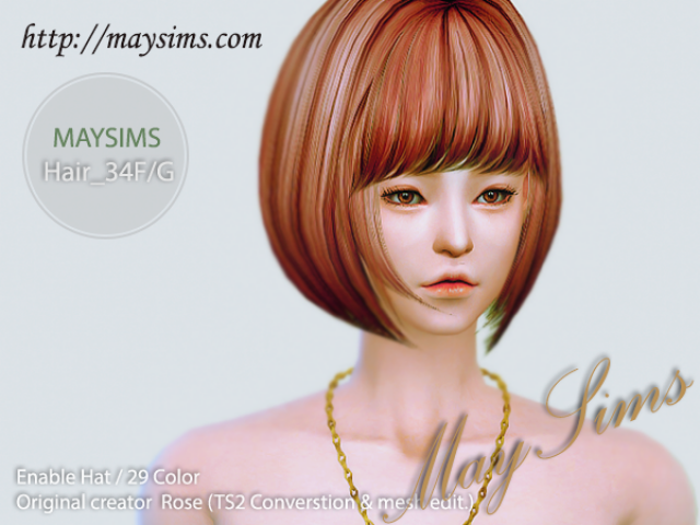 Hair34F_G by MaySims