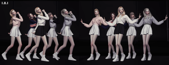 Kpop Girls Groups Dance Postures Set V.1 by flowerchamber