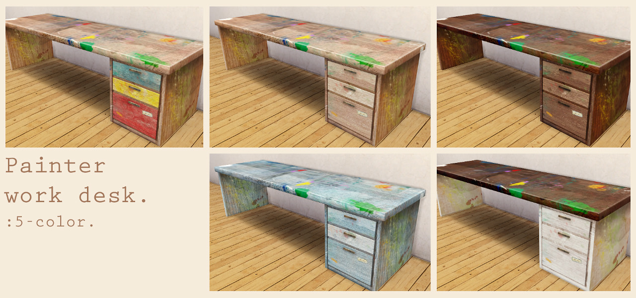 Painter work desk by imadako