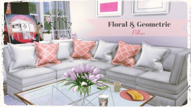 Floral and Geometric Pillows by DinhaGamer