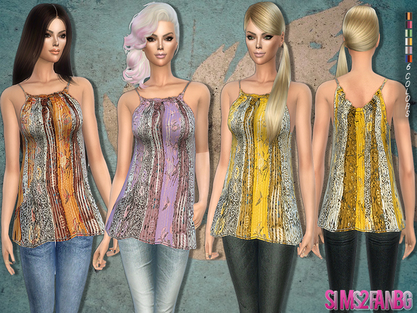 181 - Printed tunic by sims2fanbg