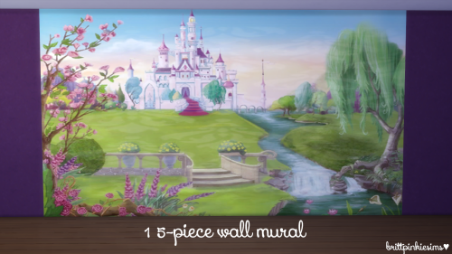 Disney Princess Bedroom Set by BrittpinkieSims