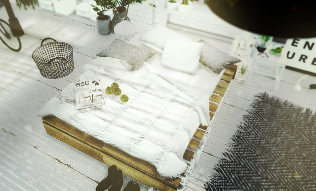 DIY Rustic Pallet Bed Part 2 by MXIMS