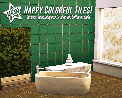 Happy Colorful Tiles by YellowJealousy