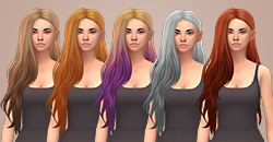 Heartburn Hair Clayified for Females by ButterscotchSims