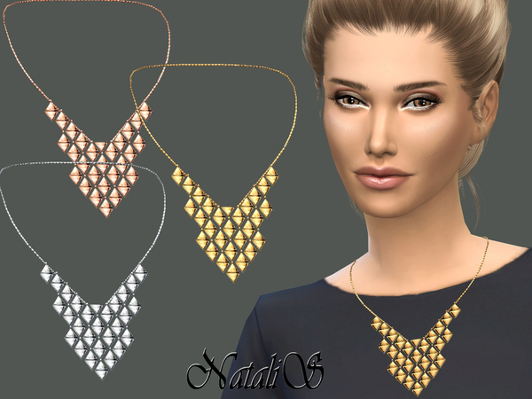 NataliS_Triangles Chandelier Necklace