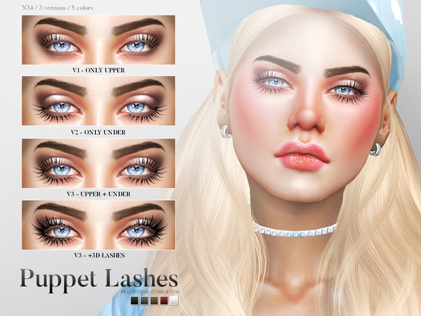 Puppet Lashes N34 by Pralinesims