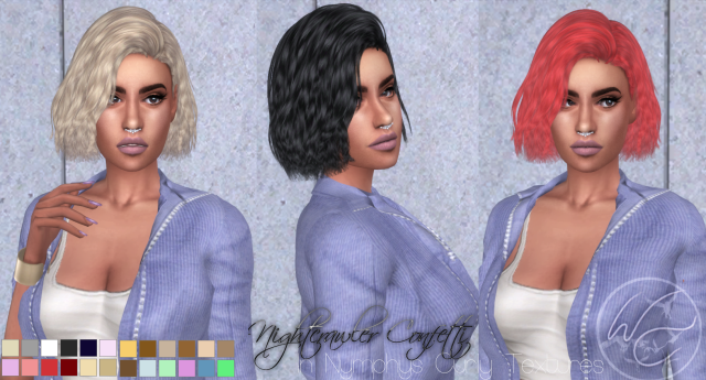 Nightcrawler Confetti Hair Retexture for Females от WhiteCrow