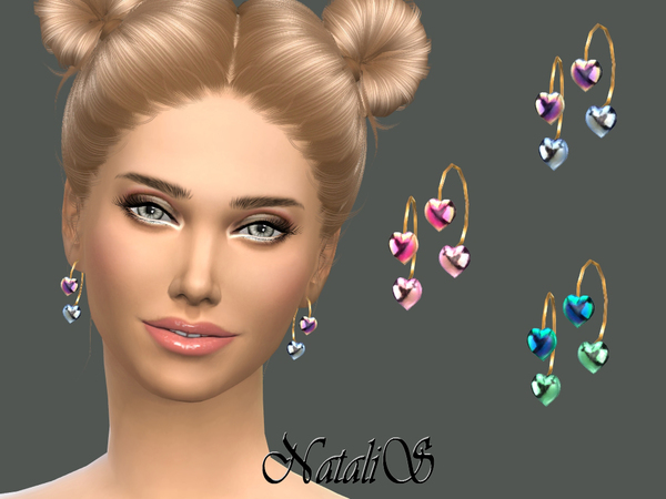 NataliS_Gradient heart earrings
