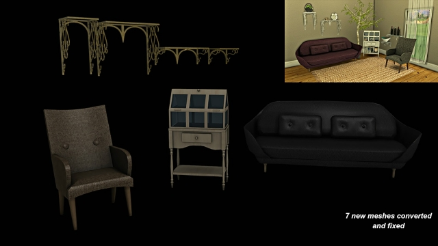 TS3 Shabby Living Conversion by Leo4Sims