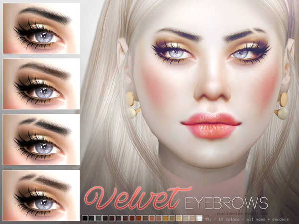 Velvet Eyebrow Duo by Pralinesims