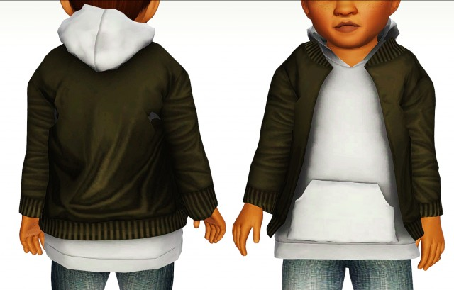 Layered Bomber Jacket by Loubellesims