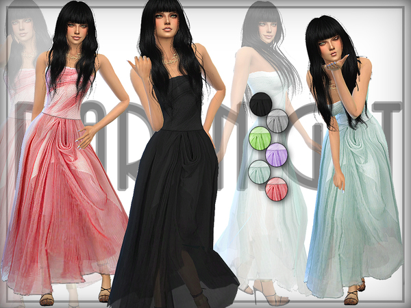 Sleeveless Draped Gown by DarkNighTt