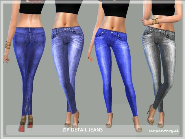 Detailed Jeans by Serpentrogue