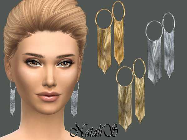 NataliS_Hanging chain drop earrings