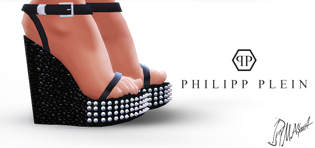 Philipp Plein Spiked Plarform Sandals by MrAntonieddu