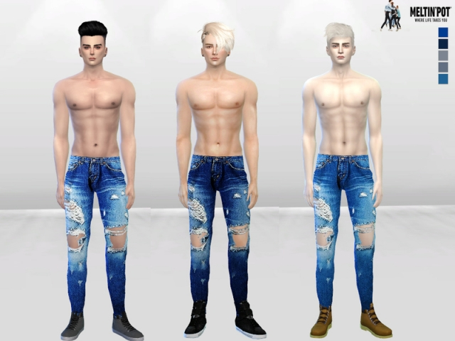 Ibisa Distressed Denim Jeans by McLayneSims