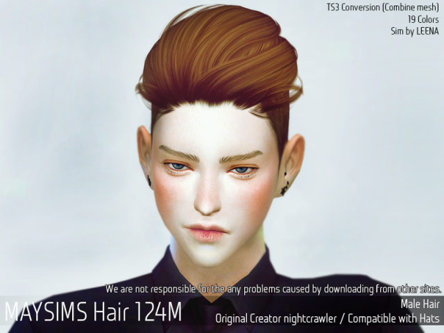 Hair124M by MaySims