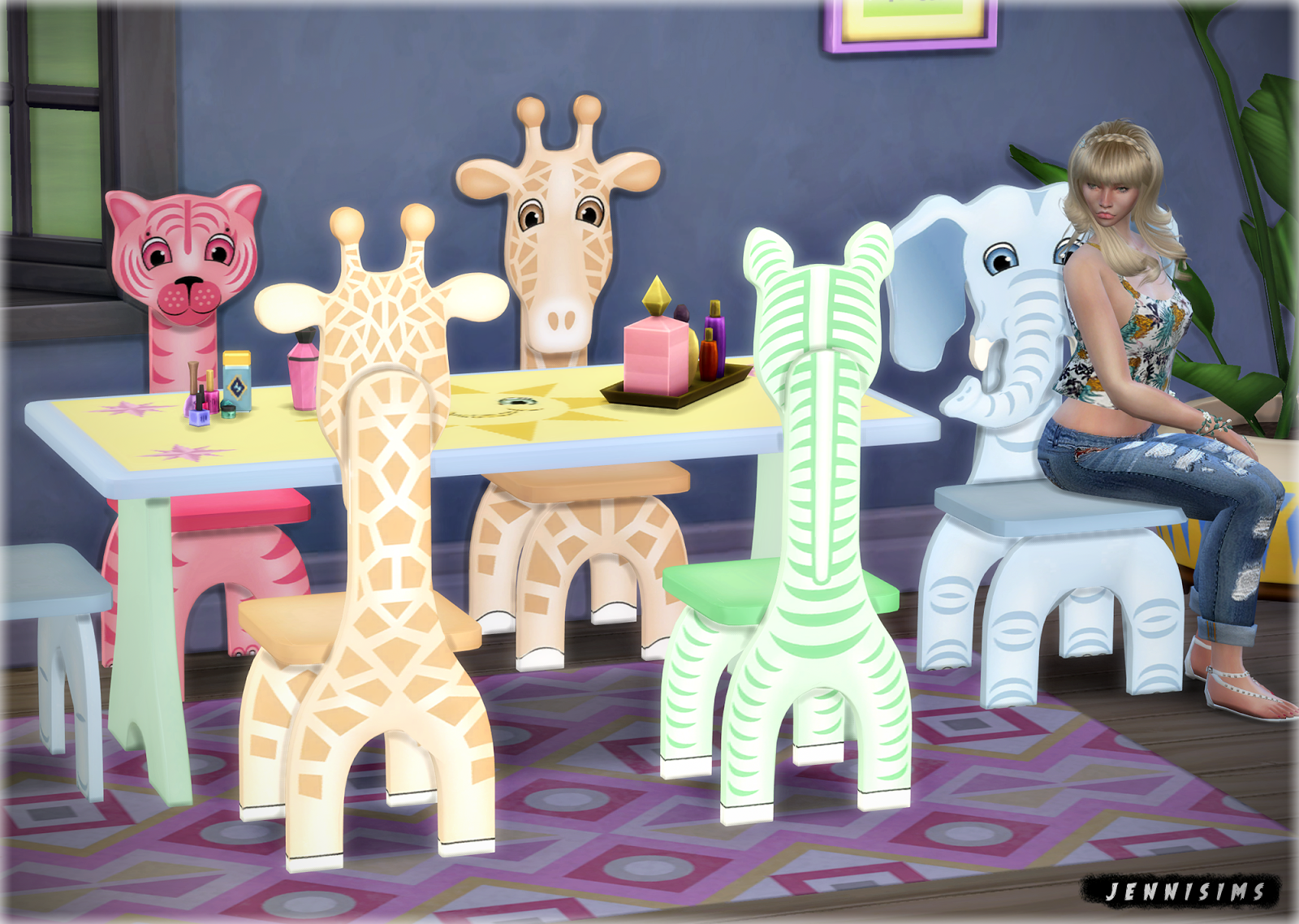 Safari Furniture for Kids by JenniSims