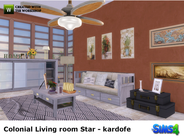 kardofe_Colonial Living room Star