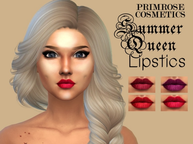 SUMMER QUEEN Detailed lipstick by Primrose Smith