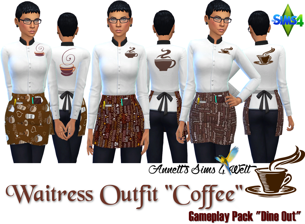 Waitress Outfit Recolors by Annett85