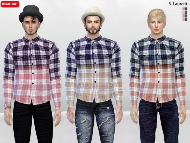 Rixton Ombre Checkered Shirt by McLayneSims