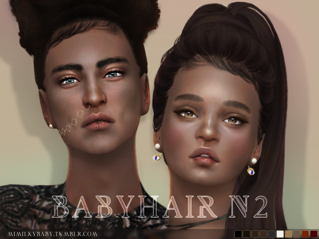Babyhair N2 2 versions (R+L) by Mimilky