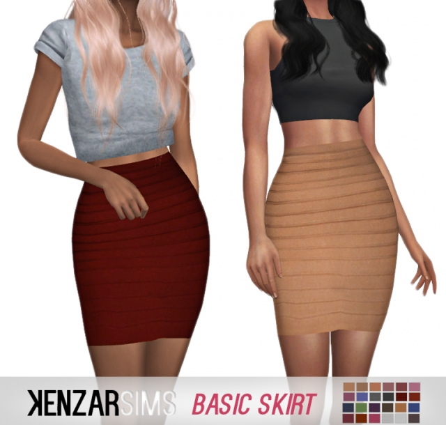 Basic Skirt by Kenzar