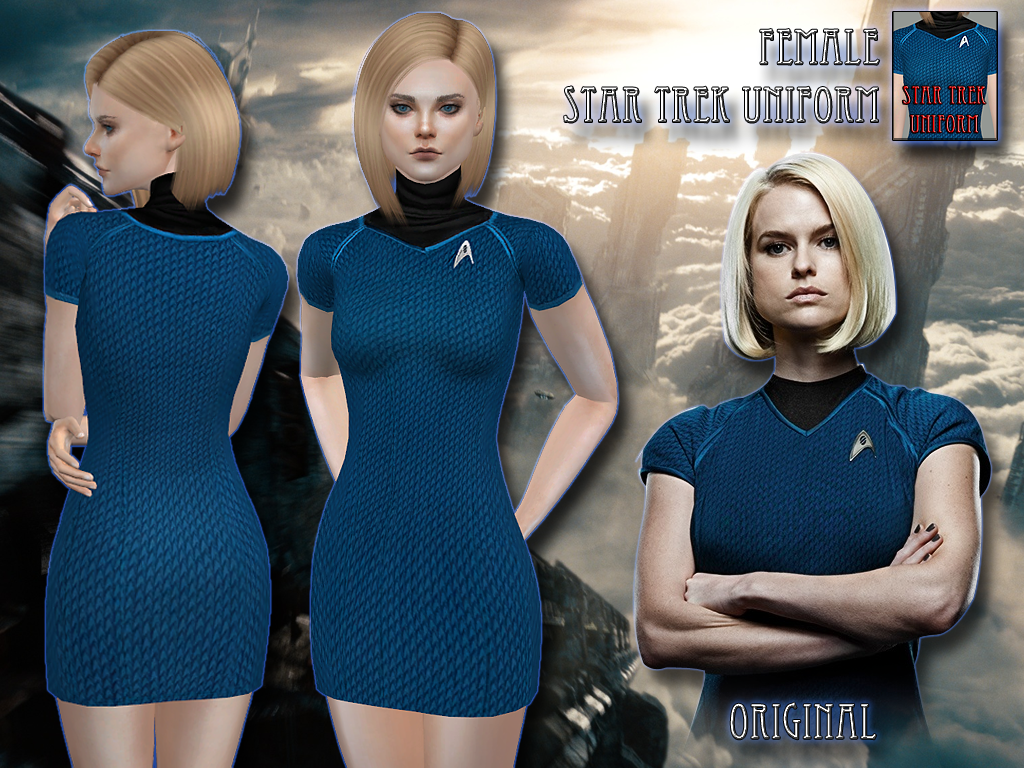 Star Trek Uniform for Females by RemusSims