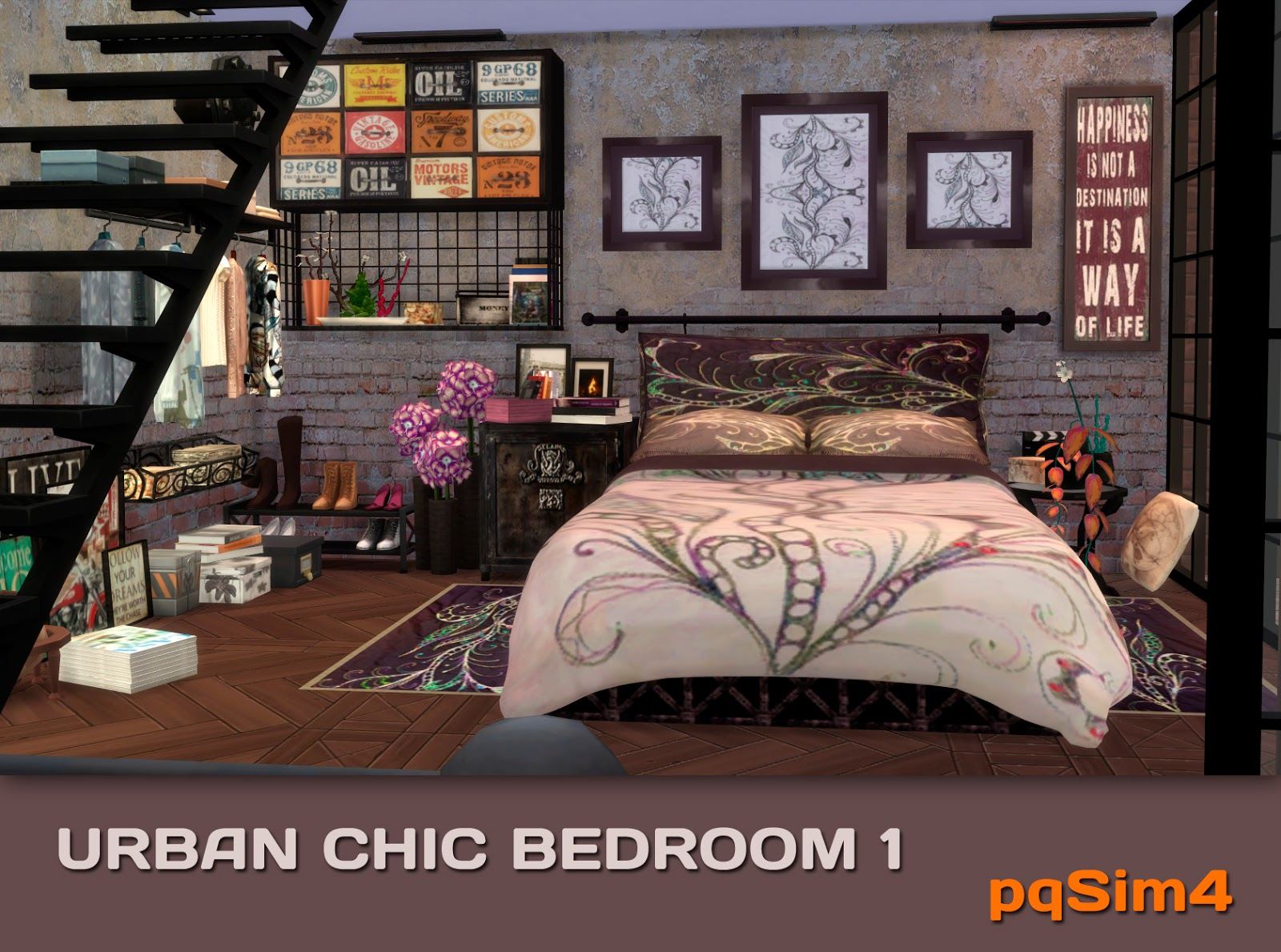 Urban Chic Bedroom Set by pqSim4